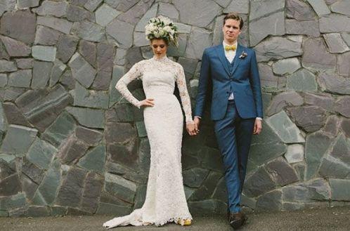 Robe: confection de la mariée / Photo: Lara Hotz