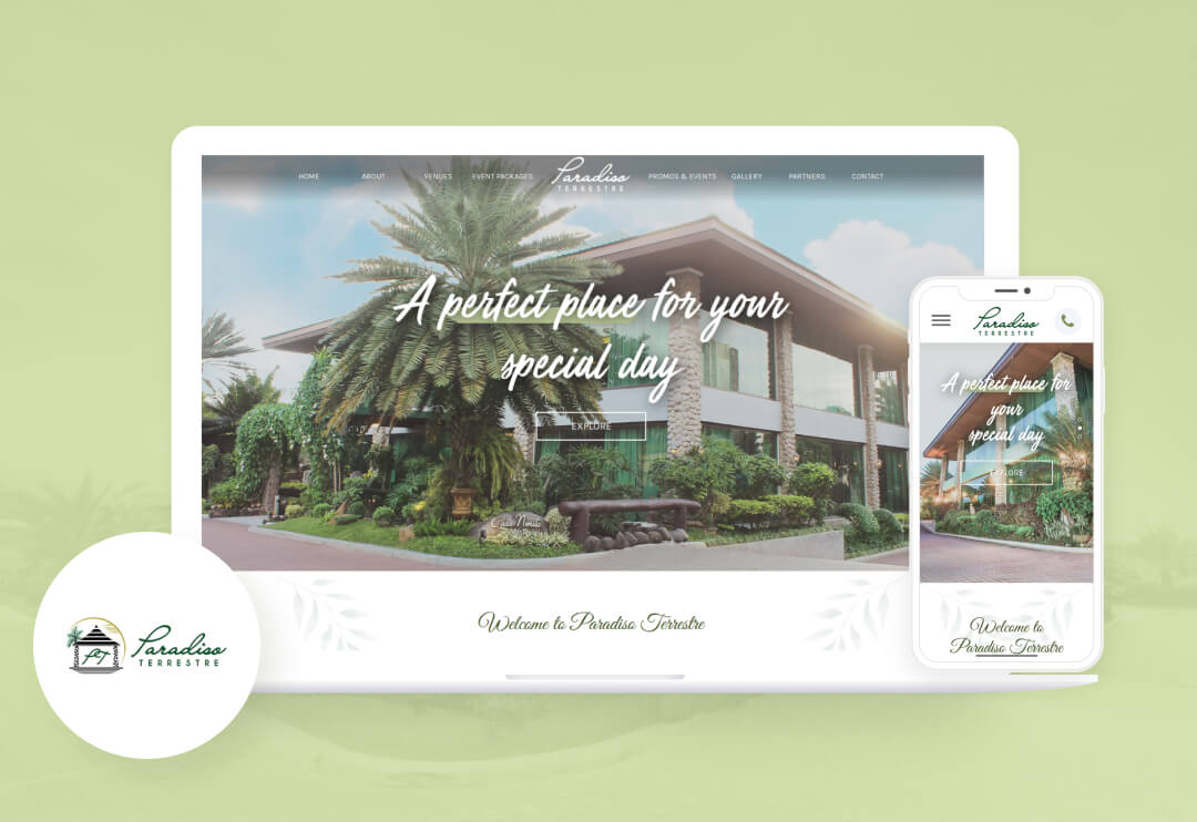 A responsive website that showcases their beautiful venues available for booking.