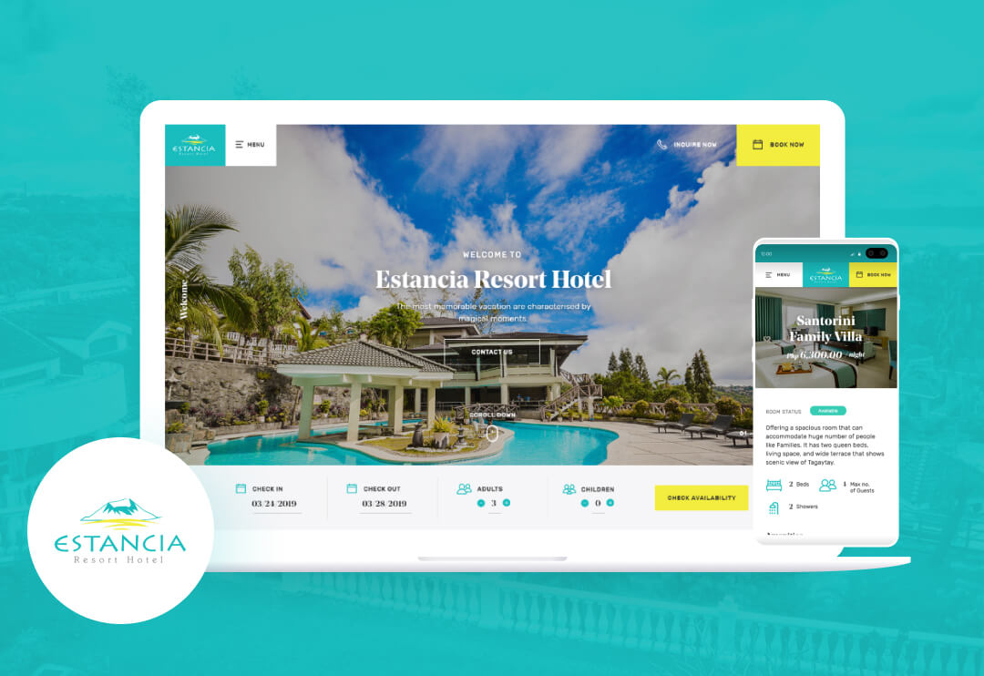 To increase the global reach of Estancia Resort Hotel by integrating a new booking system.