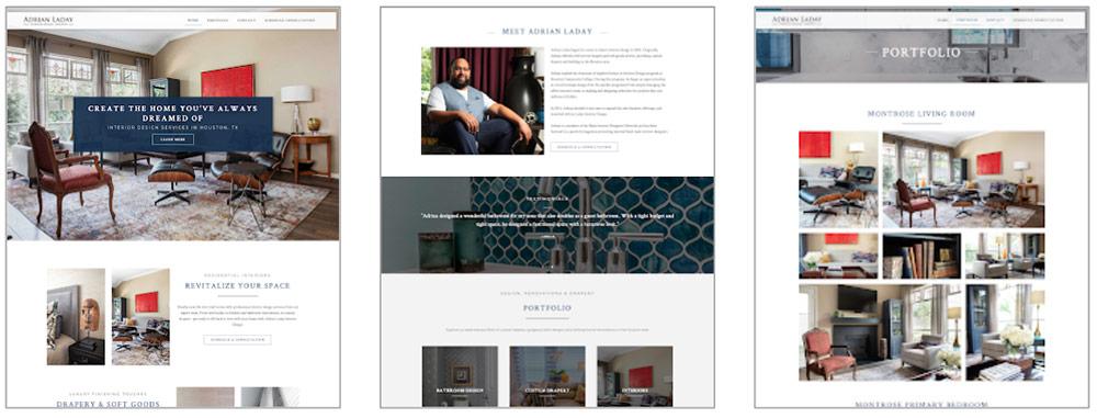 Adrian Laday Interior Design Website