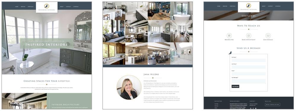 Bowerbird Interiors Website