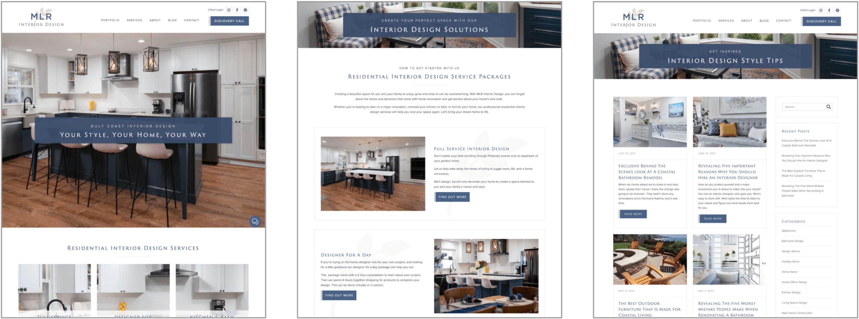 MLR Interior Design Website