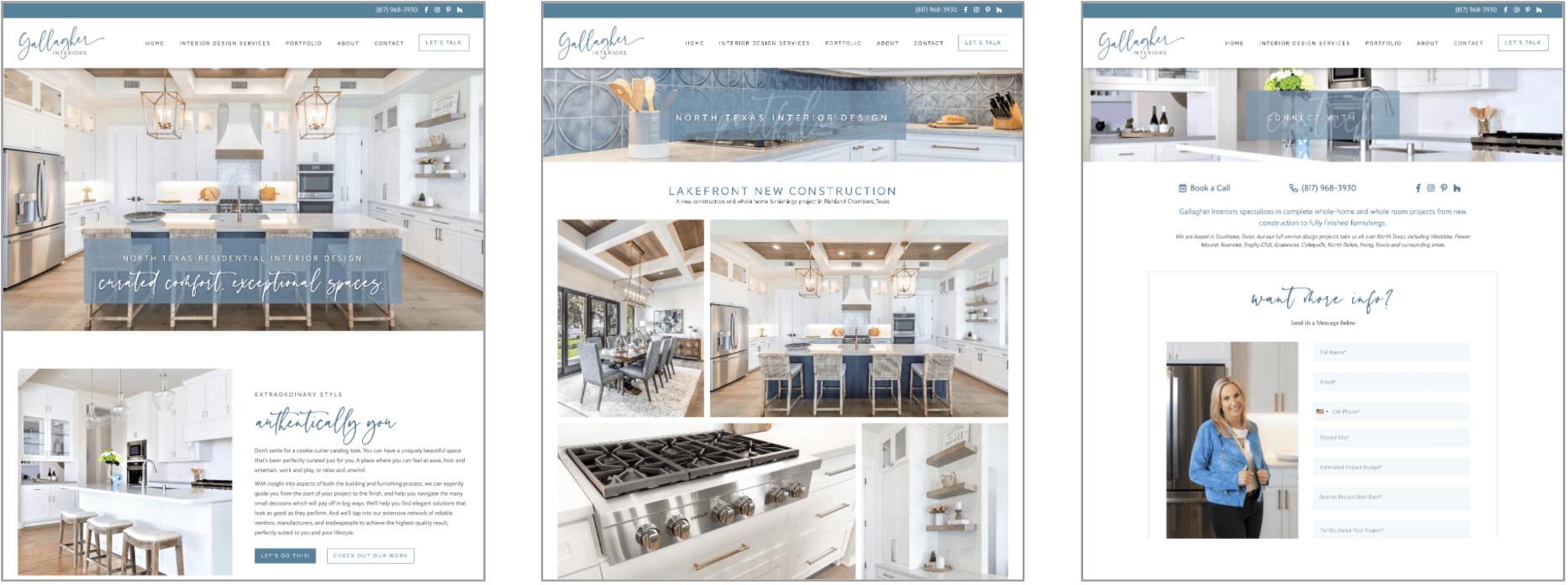 Gallagher Interiors Website After