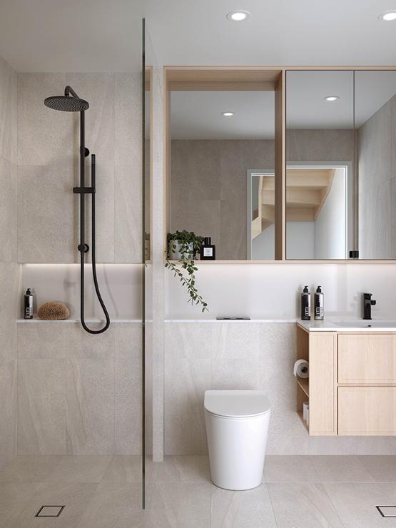 Vignette CGI of the luxurious bathroom