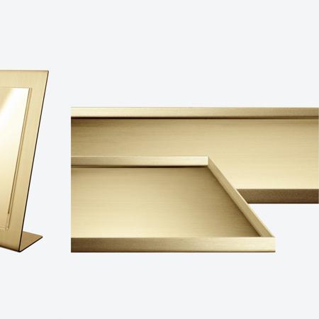 Ec Studio satin brass display trays for visual merchandisers