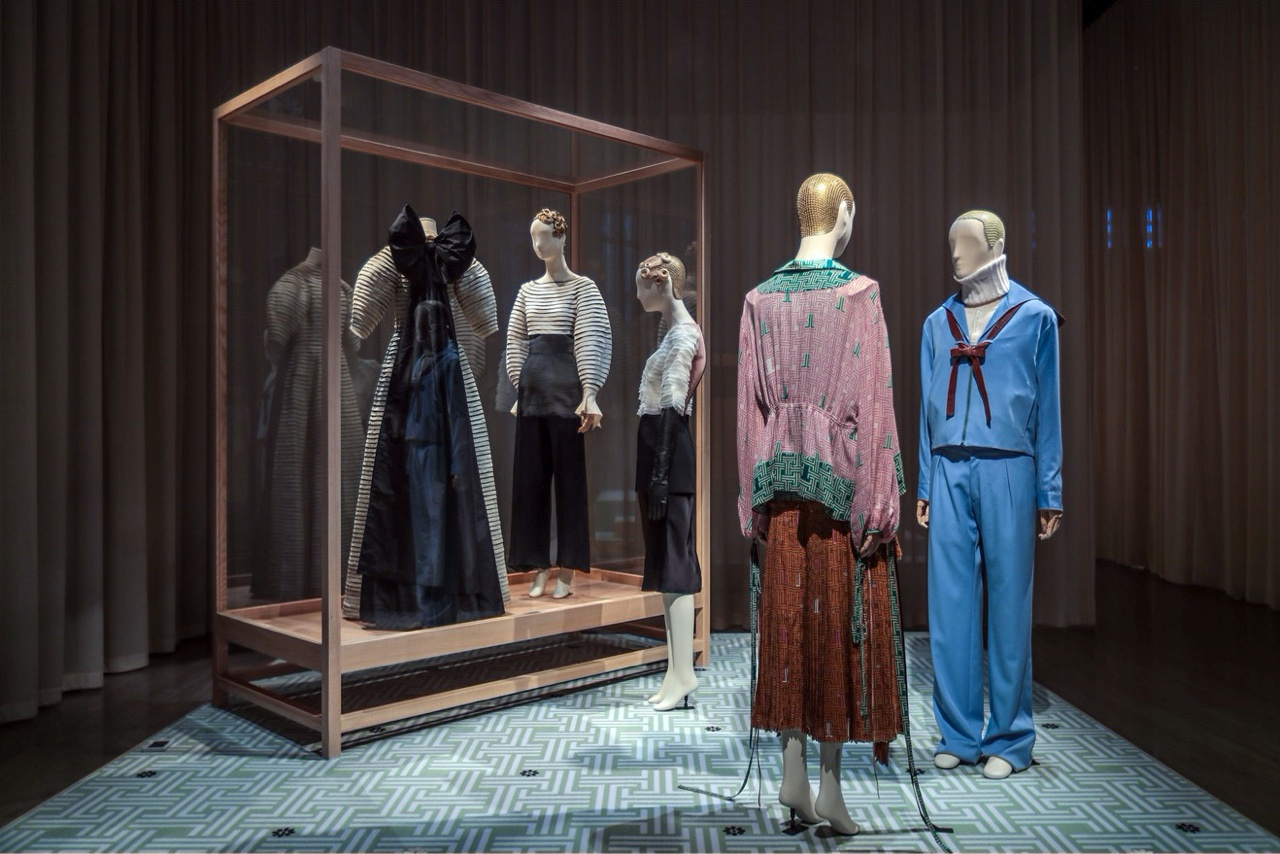 A series of Bonaveri mannequins displayed at an exhibition in Shanghai dressed in Lanvin