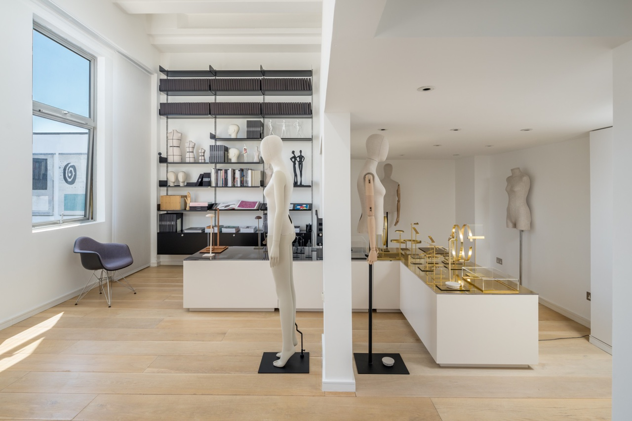 Interior view of the Blue Studio mannequin and visual merchandising showroom in south west London