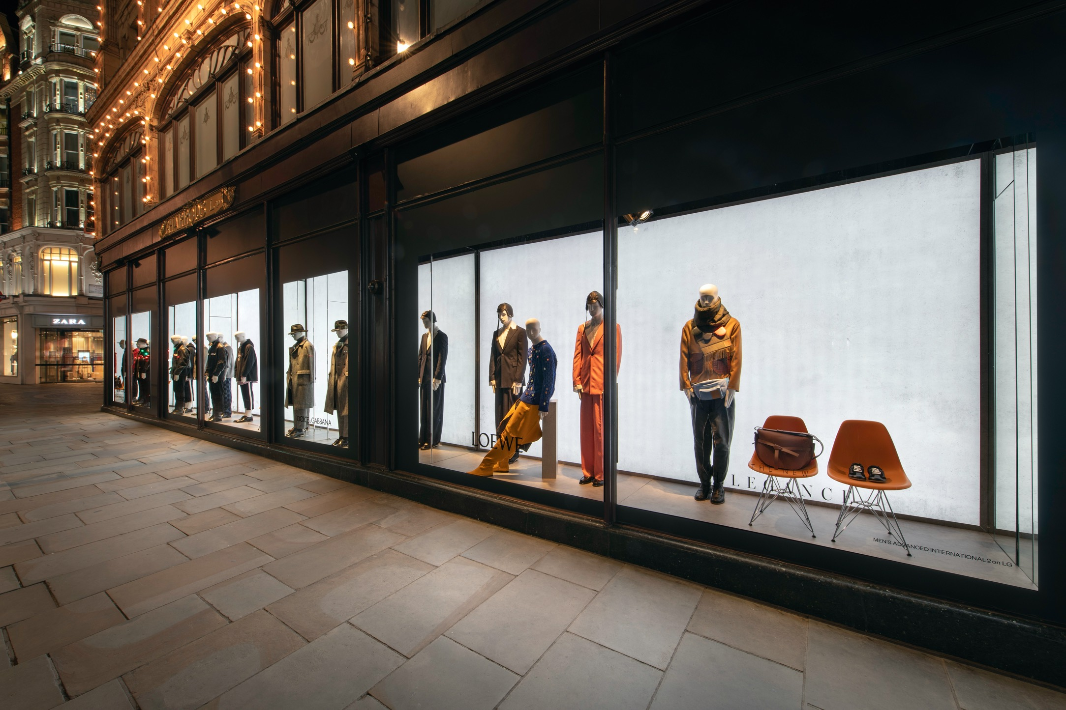 Schläppi Noble mannequins for Harrods Menswear