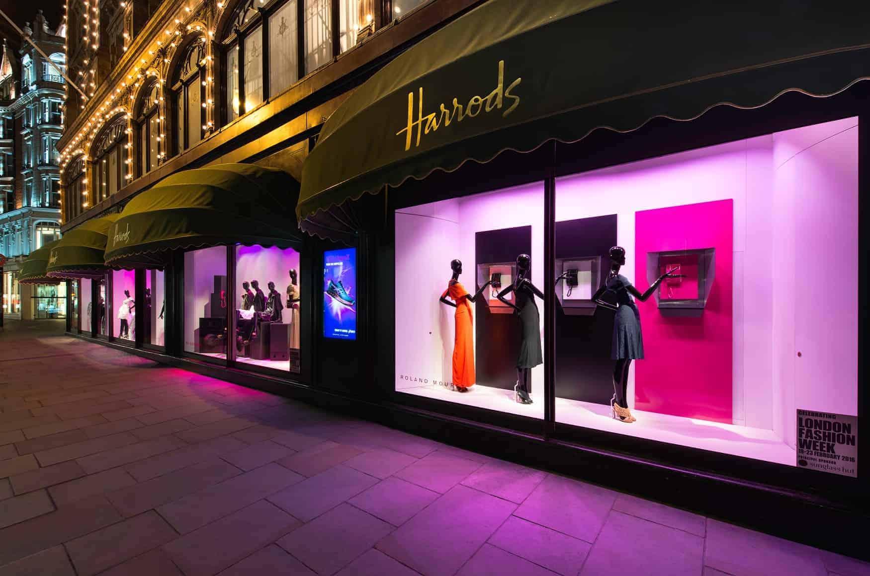 Harrods Windows featuring Schläppi mannequins by Bonaveri