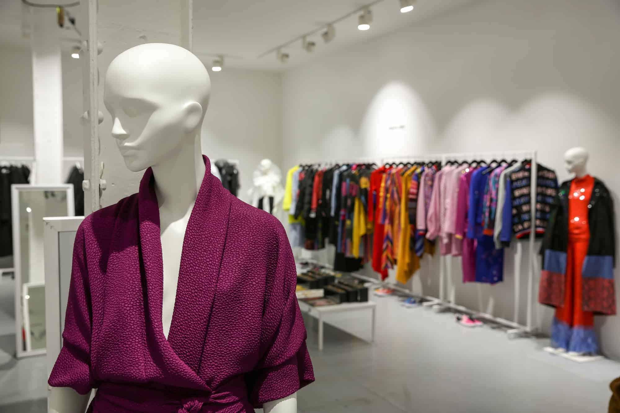 LONDON show ROOMS Paris features TRIBE female mannequins