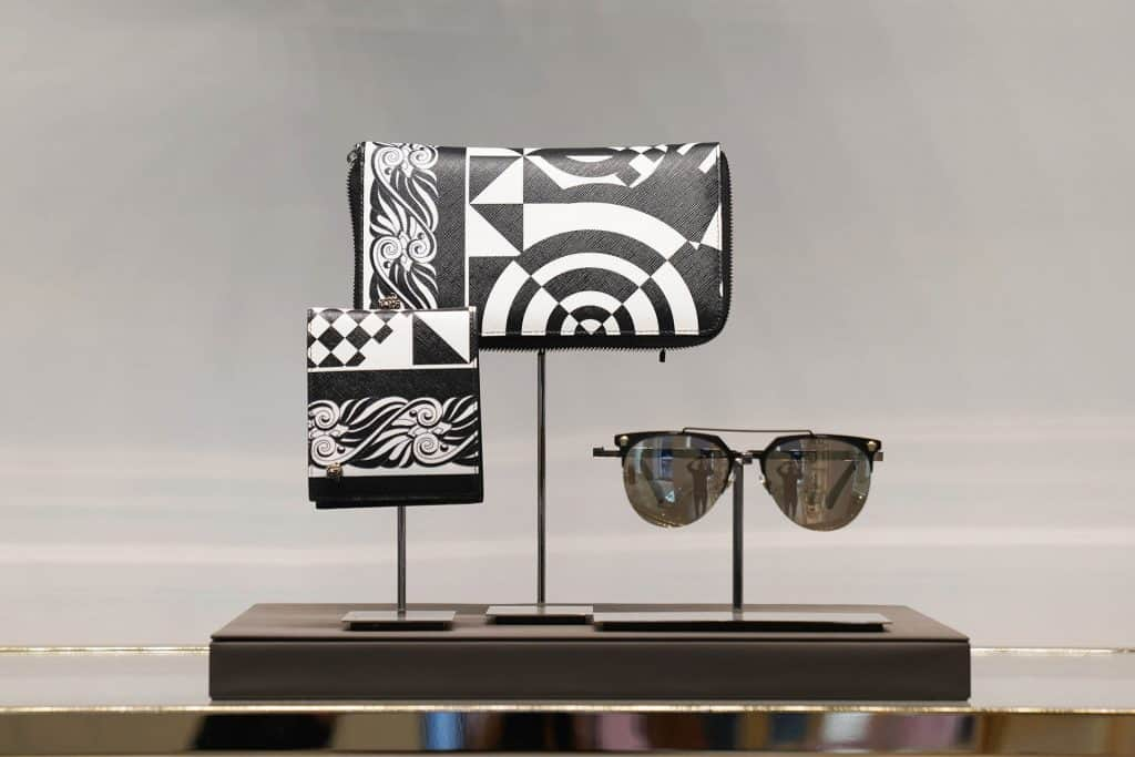 Ec Studio accessory displays for Versace in New York