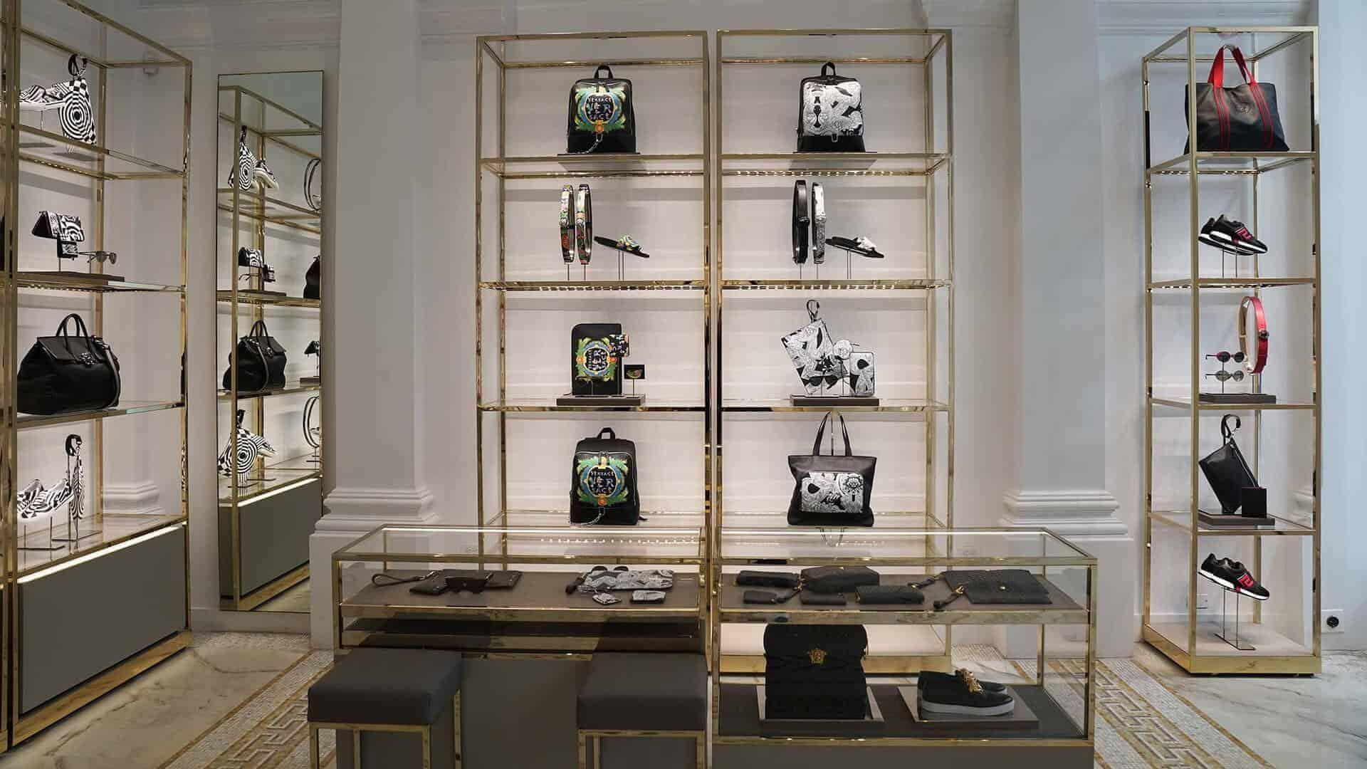 Ec Studio creates fashion accessory displays for Versace in New York