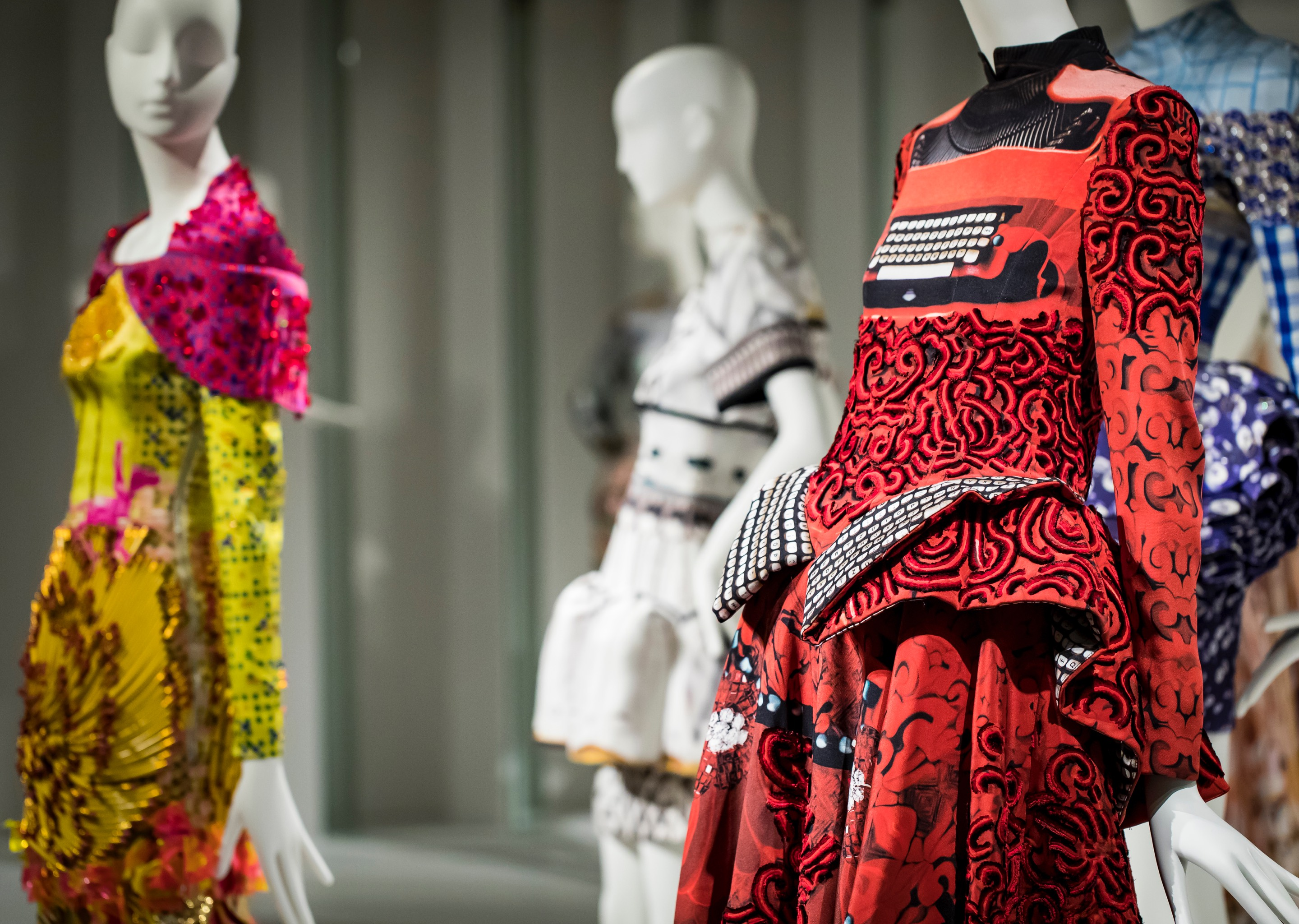 Mary Katrantzou exhibition includes Schläppi 2200 and Aloof female mannequins in celebration of the designer's 10-year career