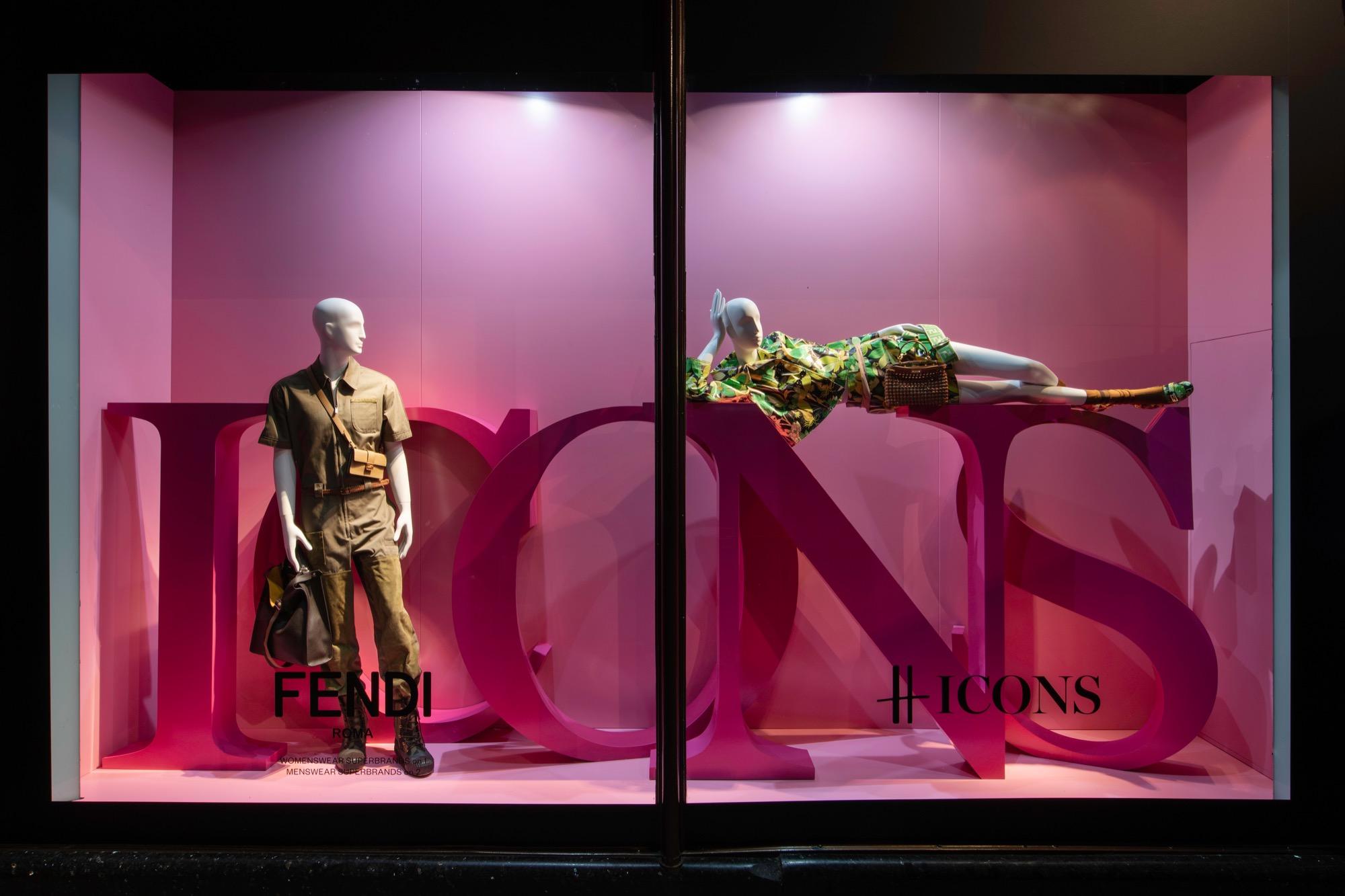 Harrods ICONS featuring Schläppi mannequins