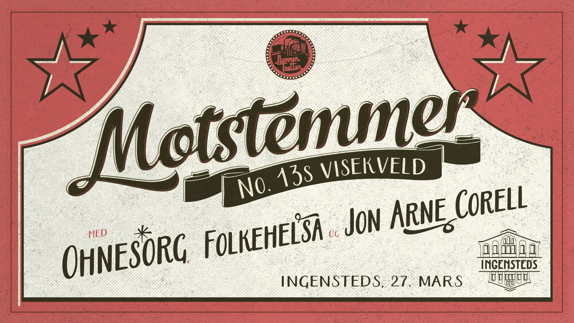 AVLYST: Arrangerer visekveld på Ingensteds 27. mars