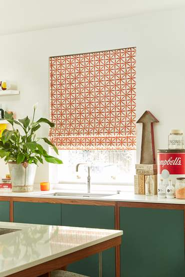 roman blind in kitchen