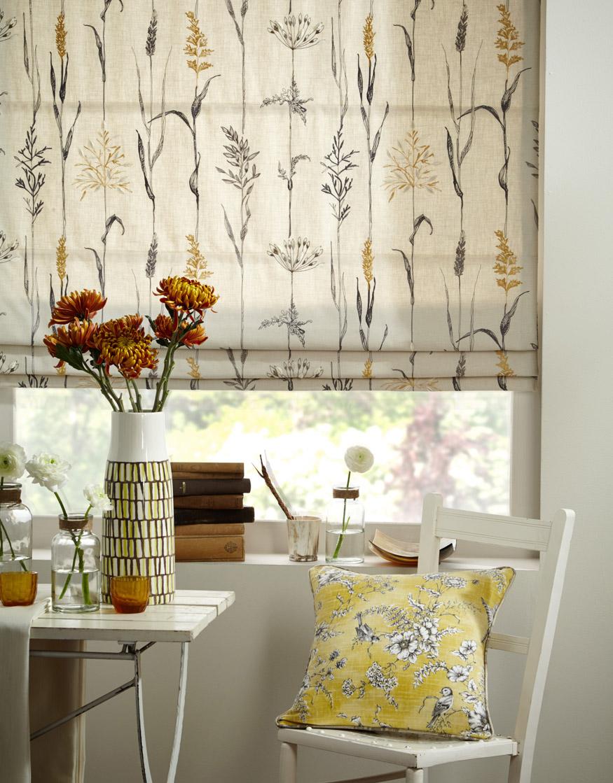 floral roman blinds