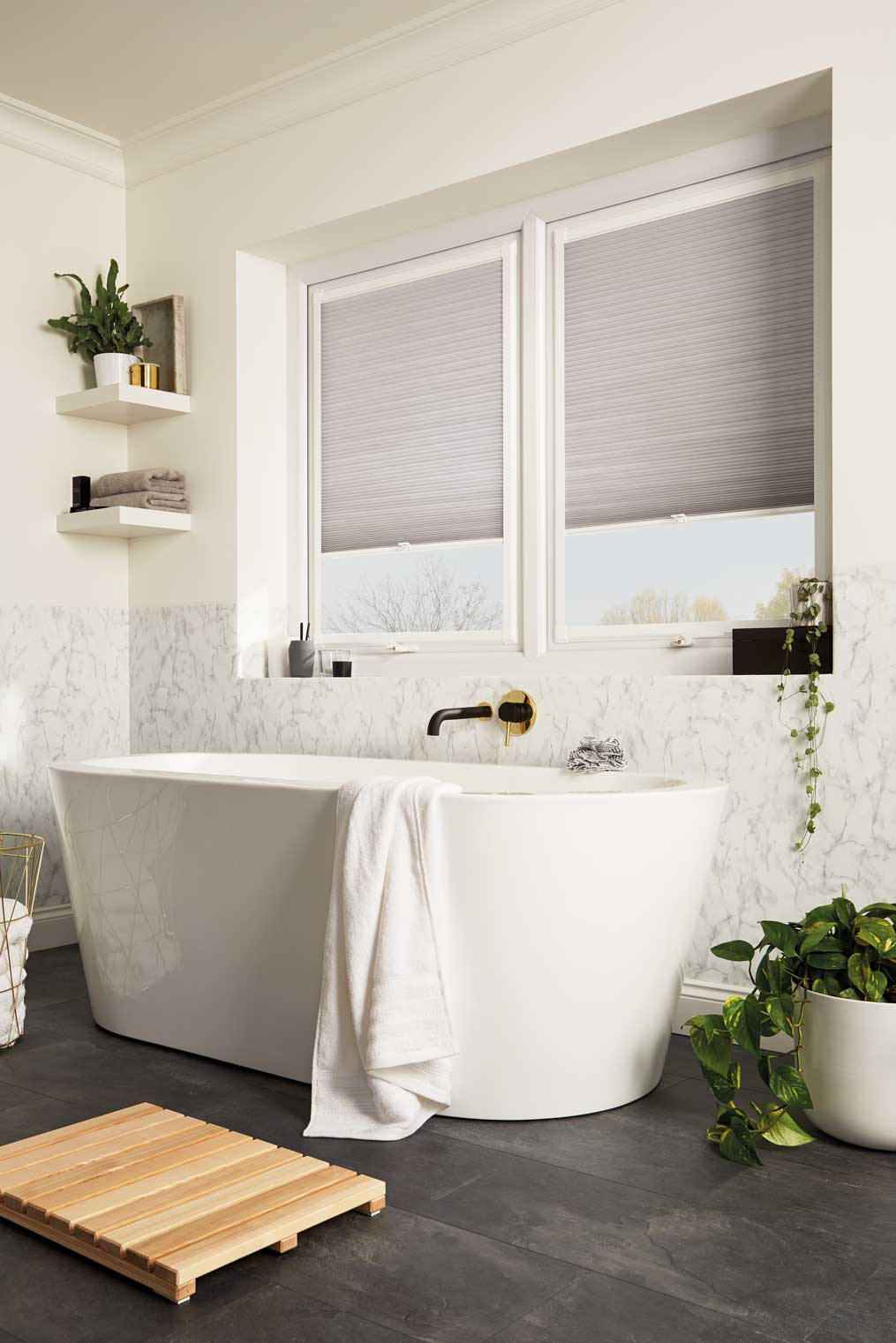 perfect fit blinds in bathroom
