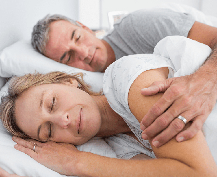 Couple enjoying deep sleep