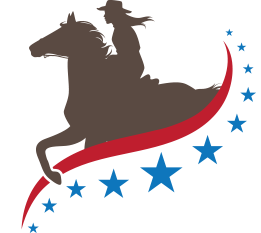 Western rider with horse logo  icon