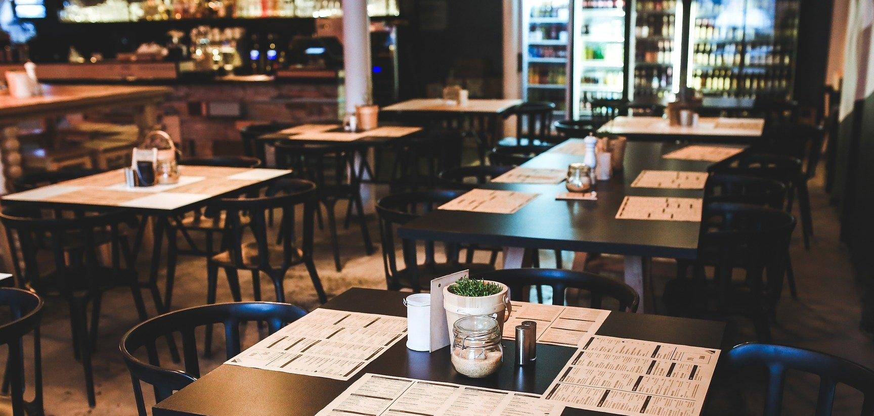Empty restaurant symbolic of COVID-19 pandemic
