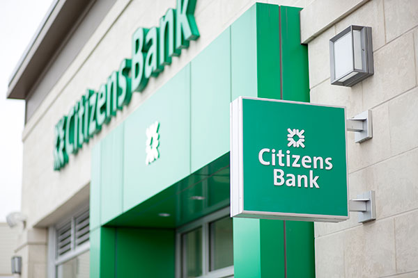 Exterior of Citizens Bank branch