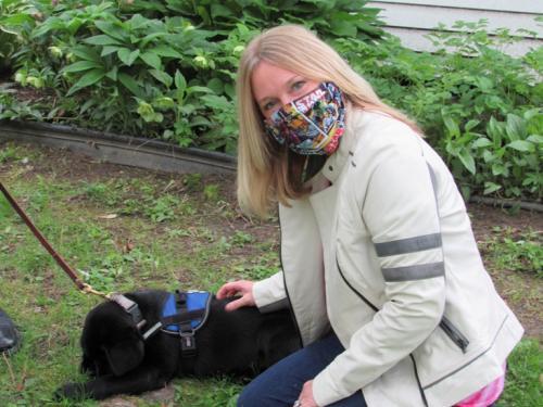 Community Bank manager with comfort dog Duke | Courtesy photo