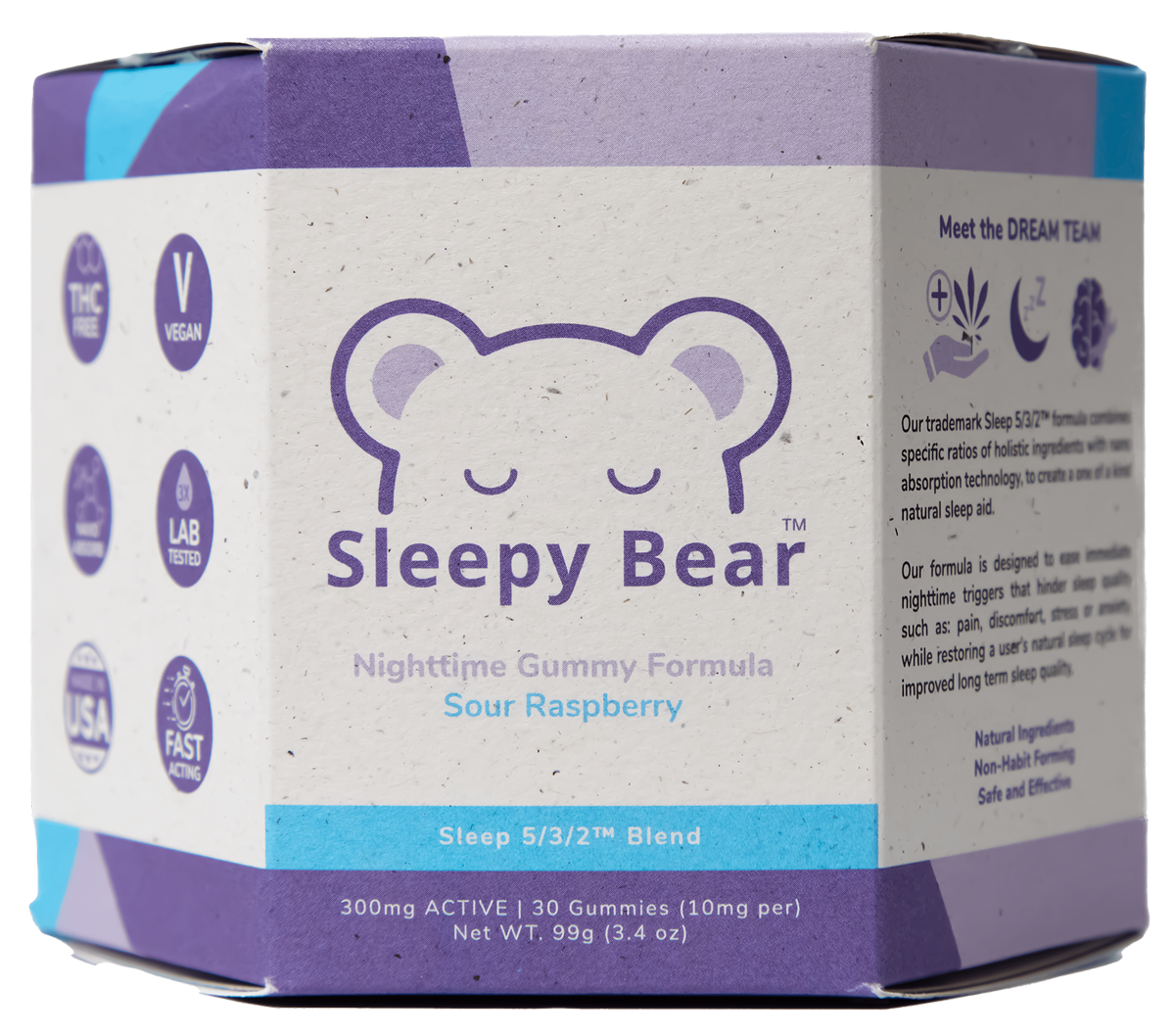 Sleepy Bear CBD CBN Nighttime Gummies 30 count box1