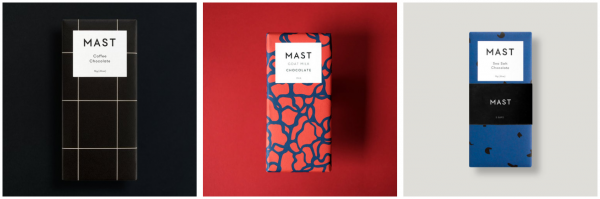 mast chocolate minimalist packaging