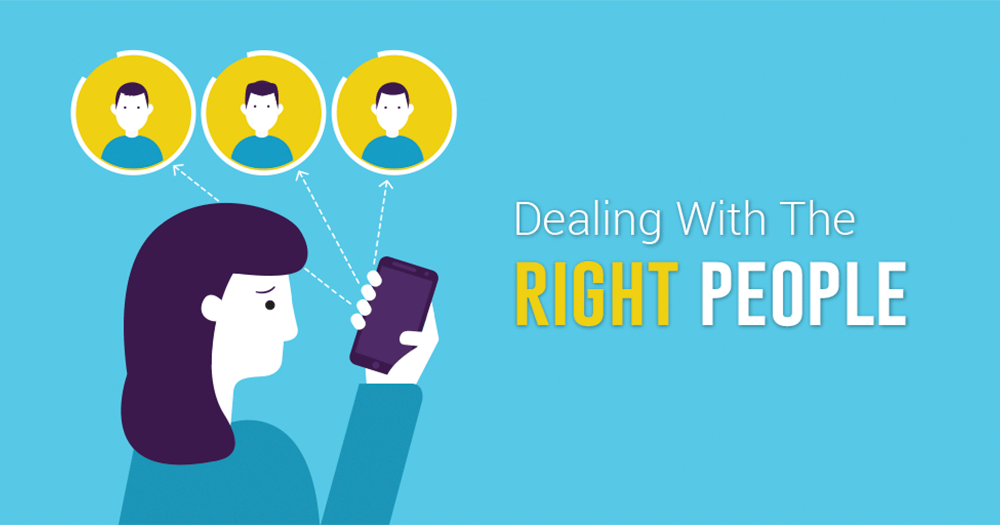 Dealing with the right person graphic