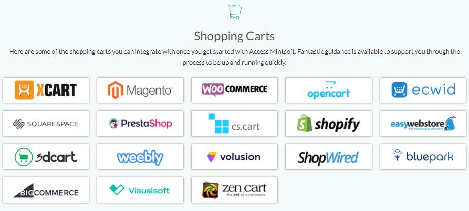 mintsoft shopping cart integrations