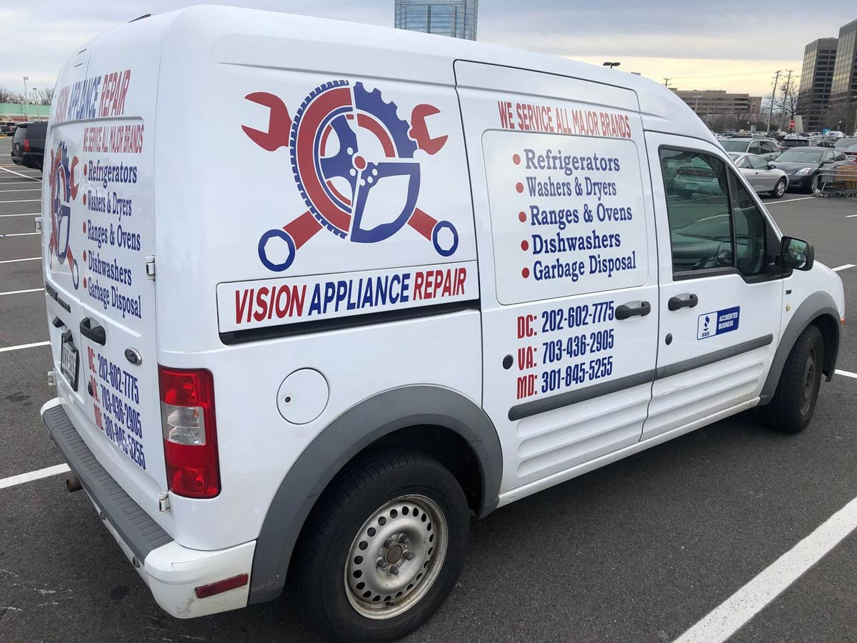 Vision Appliance Repair van