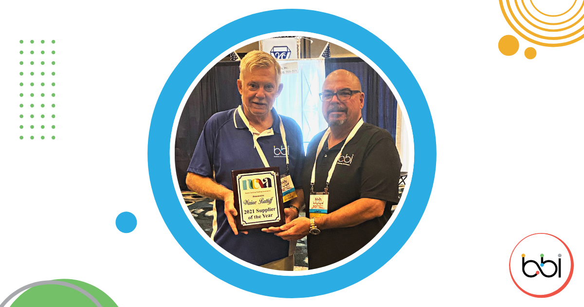 BBI's Waine Ratliff Recognized by The North Carolina Vending Association as the 2021 Supplier of the Year