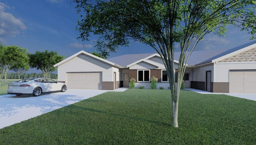 rendering of front of house