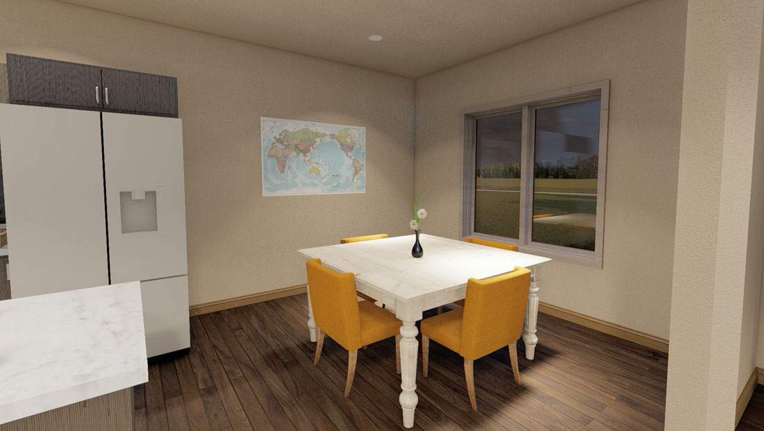 dining area rendering