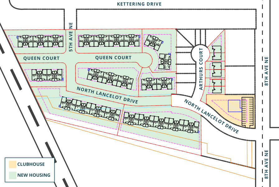 proposed site map of new development