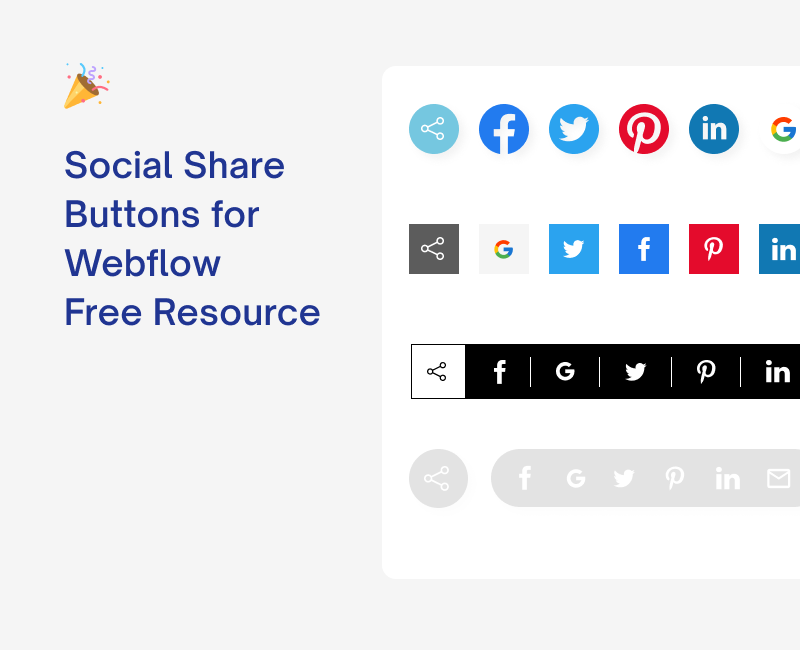 Free Webflow Social Share Buttons