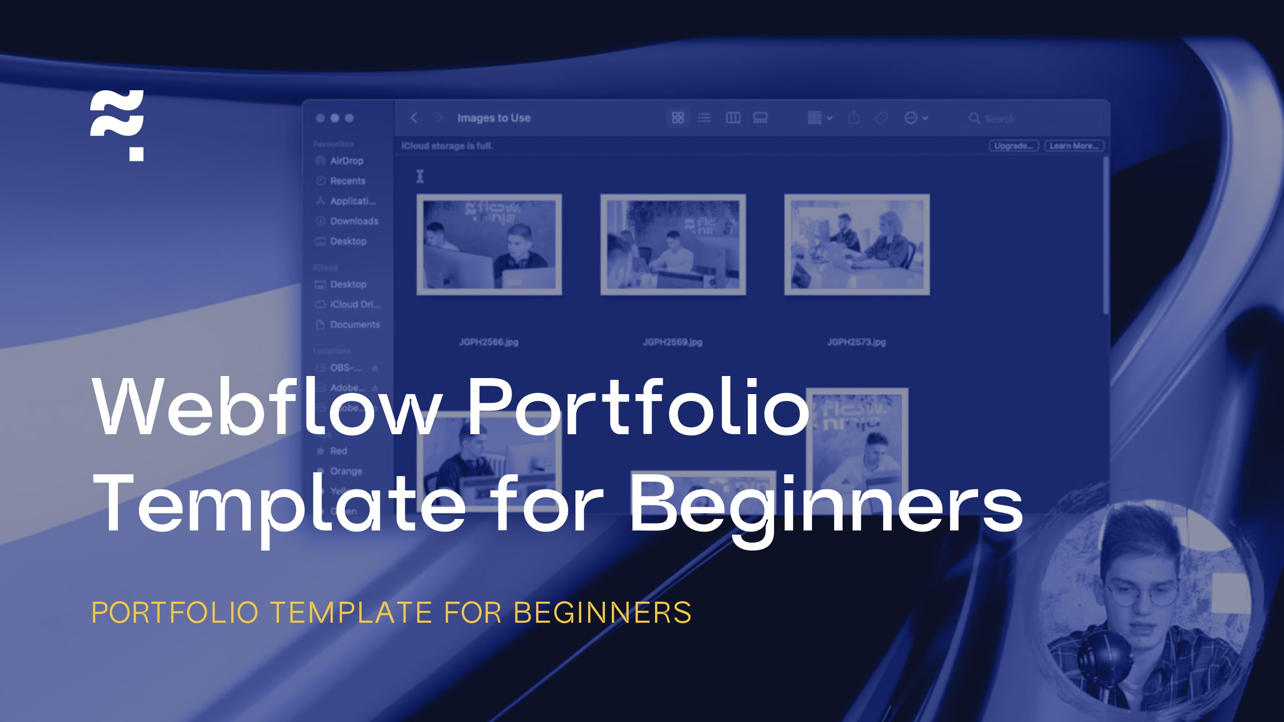 Webflow Portfolio Template for Beginners