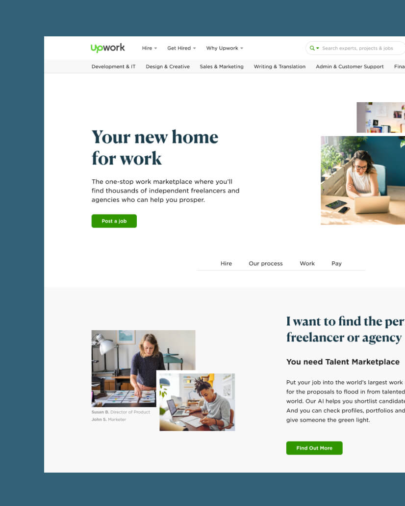 Upwork Marketing Pages