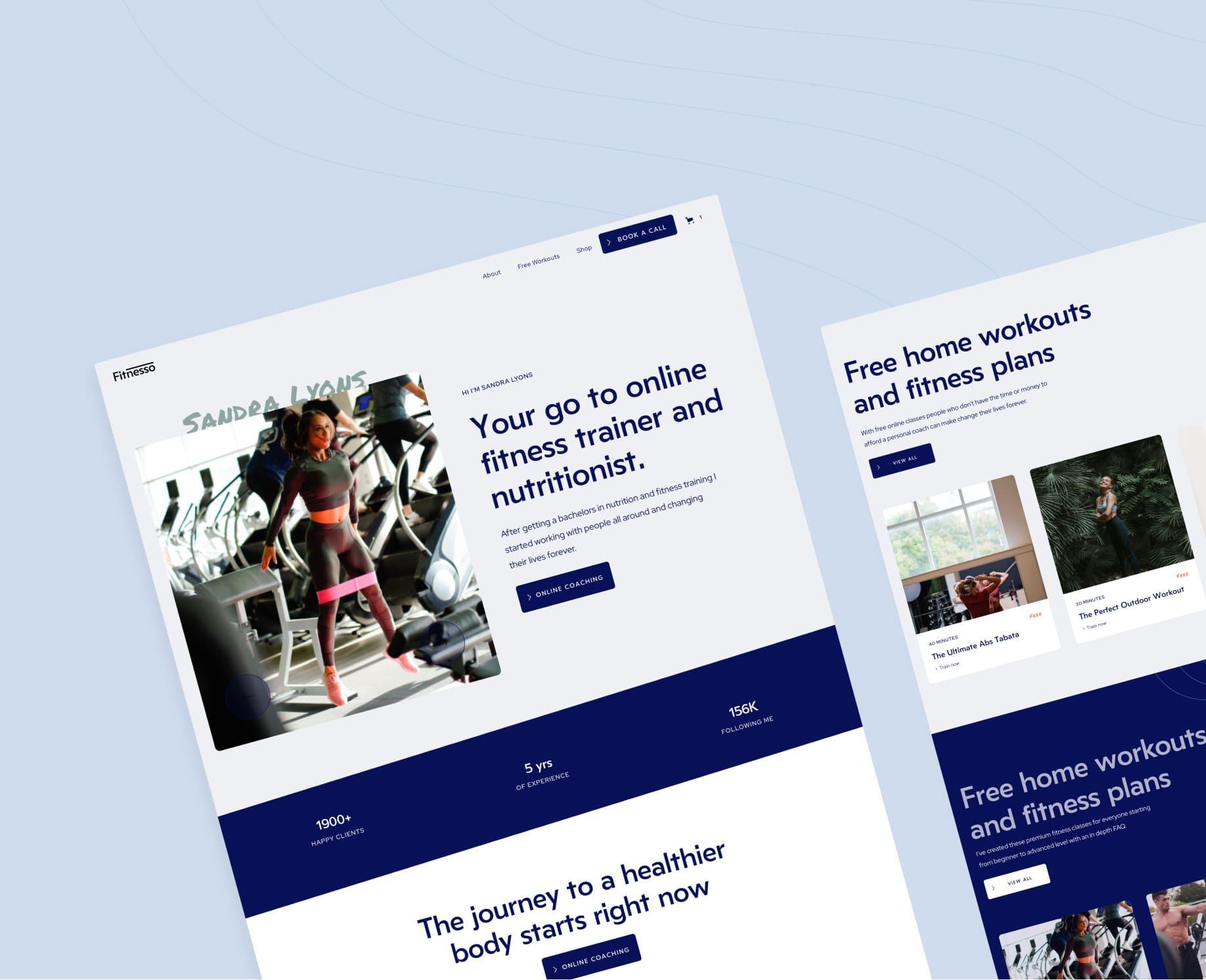 Webflow Fitness Template