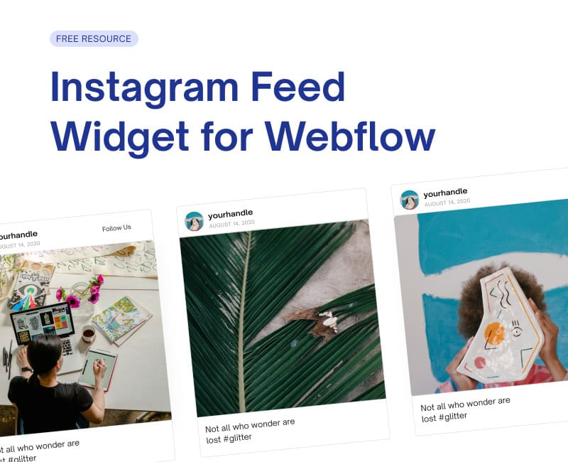 Free Webflow Instagram Feed Widget