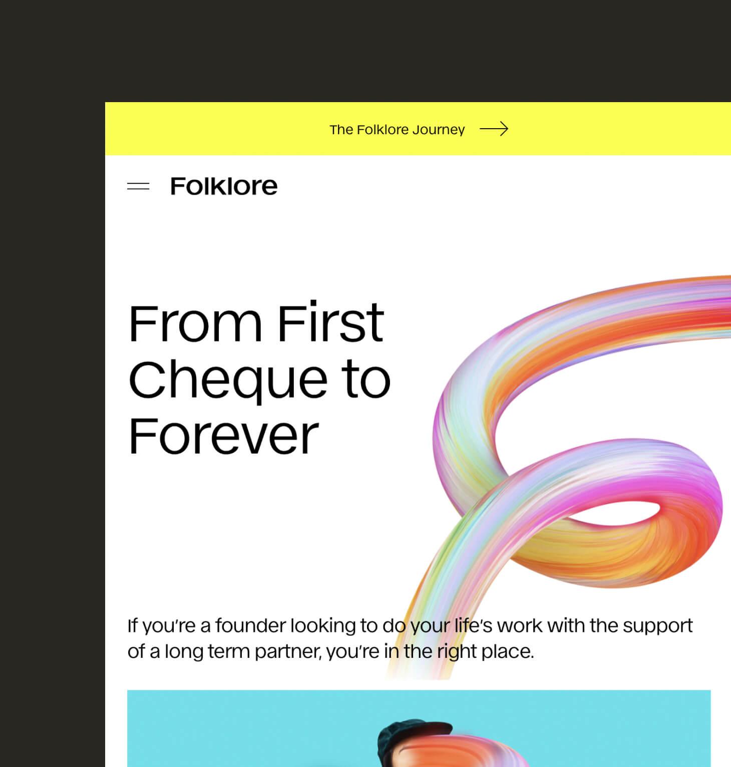 Folklore - Webflow Website Development