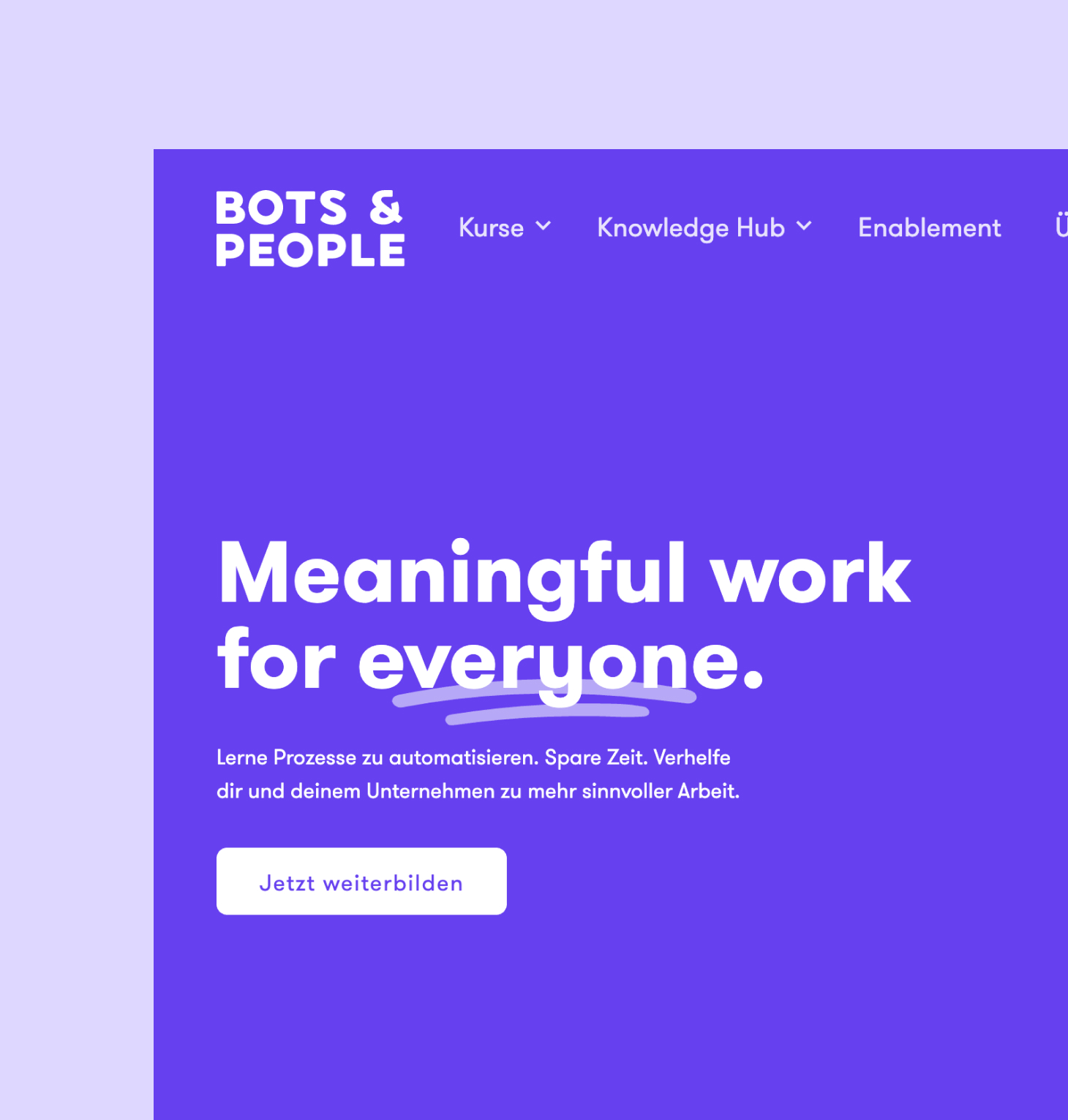 Bots and People