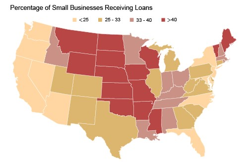 NY Fed graphic on distribution of PPP loans