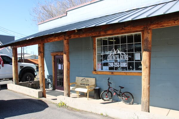 Outside image of the Council Guns storefront in Council, Idaho.