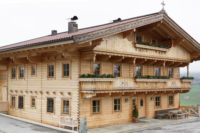 Holz-Blockbauweise