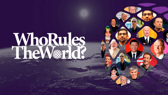 Larry Page, co-founder of Google and the eighth richest person in the world, tops the Who Rules The World? (WRTW) index with a personal wealth of appr