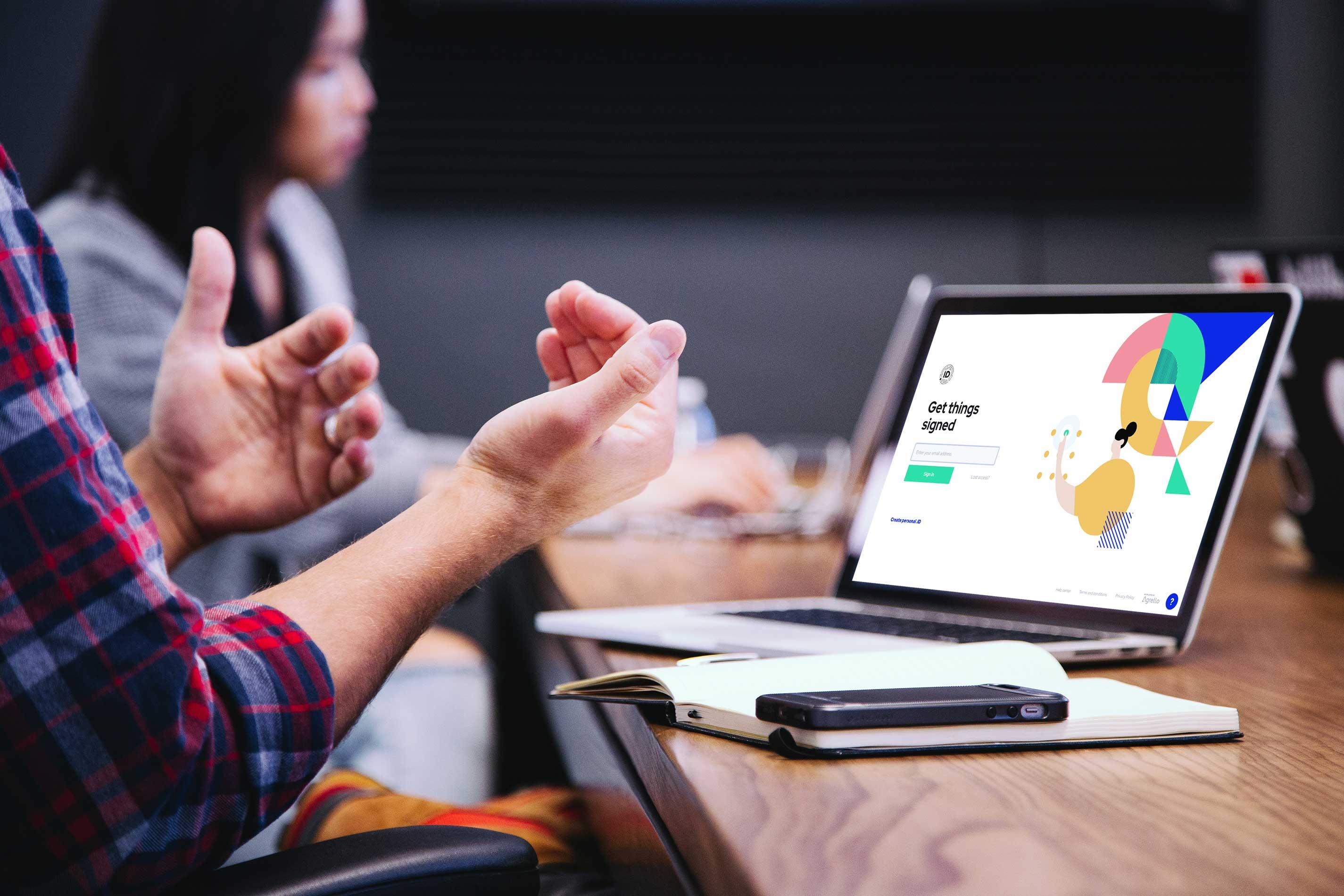 The digital identity company developing digital signature app