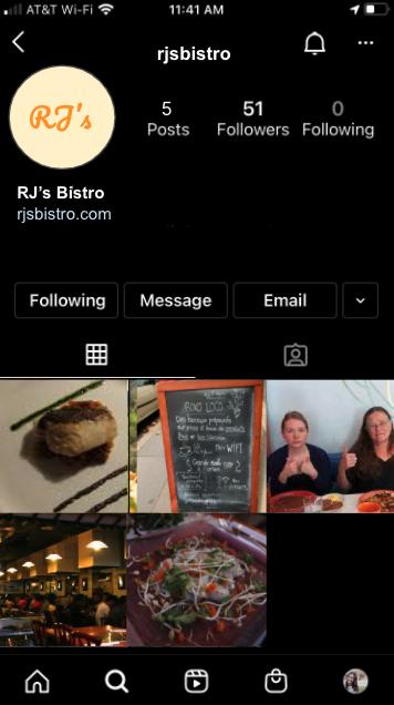 RJ's Instagram Page