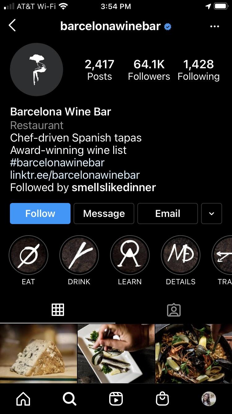 Barcelona Wine Bar Instagram